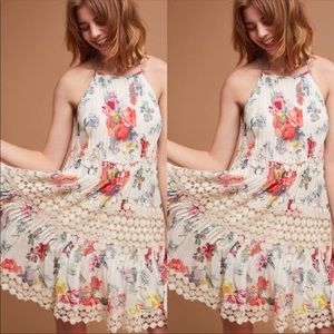 Anthropologie Ranna Gill Kalila Floral/lace dress
